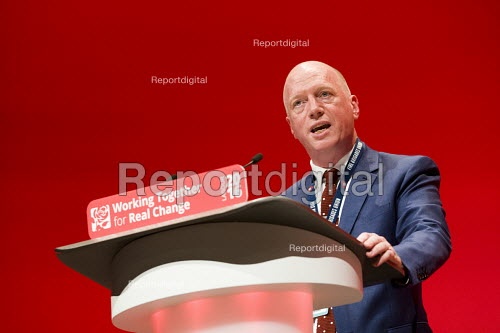 Matt Wrack, FBU speaking, Labour Party conference Liverpool - Jess Hurd - 2016-09-26
