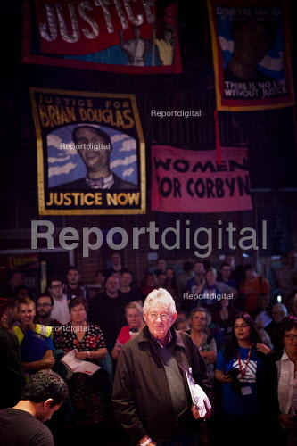 Leo Panitch, Corbyn supporters attending the live screening of the labour leadership election results at The World Transformed. Black-E, Liverpool - connor matheson - 2016-09-24