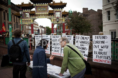Spartacist stall outside The World Transformed, Black-E, Liverpool - connor matheson - 2016-09-24