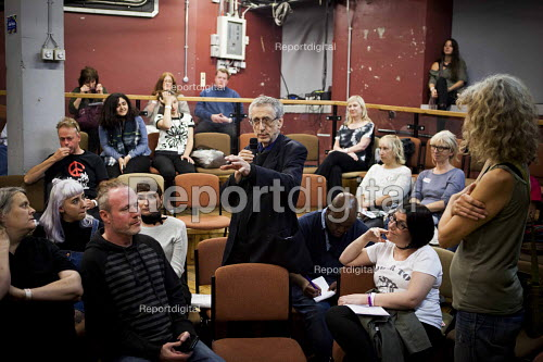 Piers Corbyn in discussion, workshop The World Transformed, Black-E, Liverpool - connor matheson - 2016-09-24