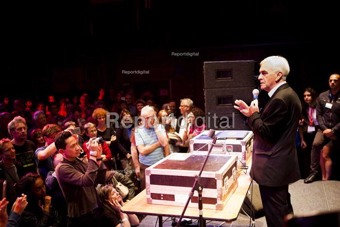 John McDonnell MP speaking, workshop The World Transformed, Black-E, Liverpool - connor matheson - 2016-09-24
