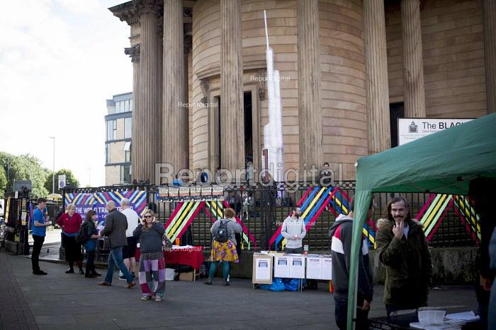 Stalls outside The World Transformed, Black-E, Liverpool - connor matheson - 2016-09-25