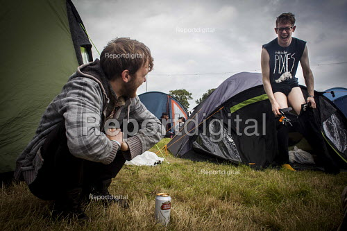 Music fans camping at the ArcTanGen Music Festival. Bristol - Connor Matheson - 2016-08-20