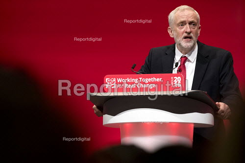 Jeremy Corbyn speaking, Labour Party Conference, Liverpool - Jess Hurd - 2016-09-28