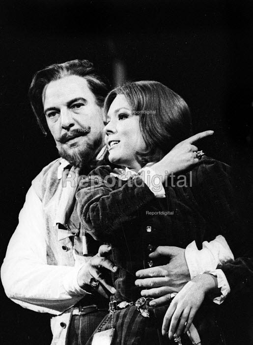 Diana Rigg starring as Viola in RSC production Twelfth Night Stratford upon Avon 1966 - Patrick Eagar - 1966-06-13