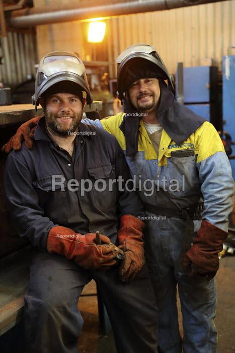 Welders, Engineering Workshop, Tata Steel Port Talbot, South Wales - Jess Hurd - 2016-09-22