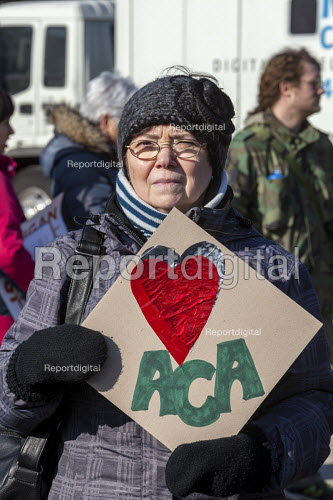 Detroit, Michigan USA, Save Health Care Rally, Day of Action opposing Republican proposals to repeal Obamacare, the Affordable Care Act (ACA) - Jim West - 2017-01-15
