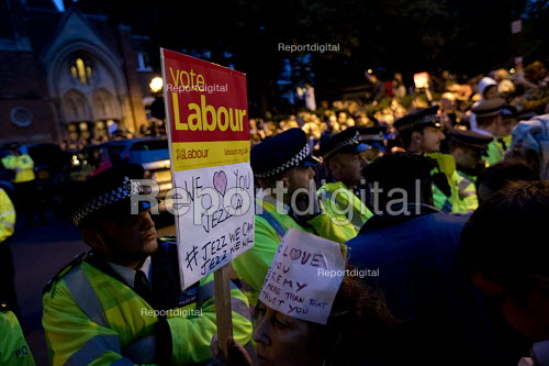 Supporters outside the Union Chapel for Jeremy Corbyn Labour Party rally on the last day of campaigning before the General Election, London - Jess Hurd - 2017-06-07