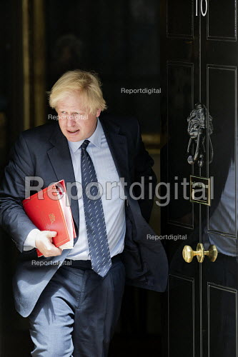 Boris Johnson leaving a cabinet meeting, 10 Downing Street, London - Jess Hurd - 2017-06-13