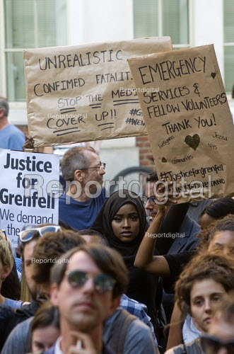 Grenfell Tower Fire. Justice For Grenfell rally outside the Department for Communities and Local Government, Westminster in protest at the injustice of lives lost in the tragedy, London - Stefano Cagnoni - 2017-06-16
