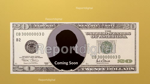 Church Creek, Maryland, USA Harriet Tubman Underground Railroad Visitor Center displaying an image of the new 20 bill which is to carry a likeness of Harriet Tubman - Jim West - 2017-06-09