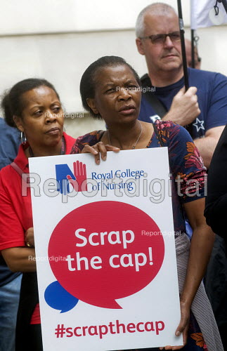 RCN Nurses beginning a summer of protest against pay restraint, protest at Department of Health, London, against the government pay cap for public servants - Stefano Cagnoni - 2017-06-27