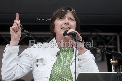 Frances OGrady Gen Sec TUC speaking, rally in Parliament Square, Not One Day More protest demanding the Tory Government go and an end to austerity policies - Stefano Cagnoni - 2017-07-01