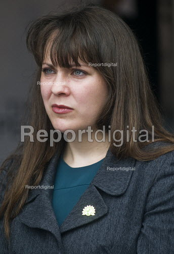 Amelia Womack Green Party speaking, rally in Parliament Square, Not One Day More protest demanding the Tory Government go and an end to austerity policies - Stefano Cagnoni - 2017-07-01