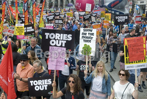 Not One Day More protest demanding the Tory Government go and an end to austerity policies - Stefano Cagnoni - 2017-07-01