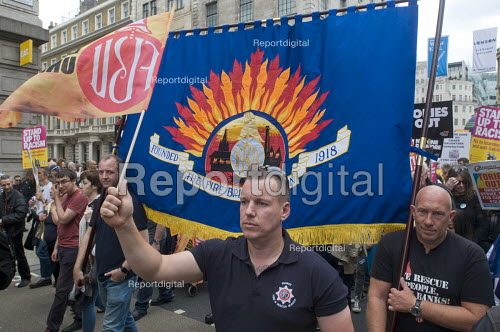FBU, Not One Day More protest demanding the Tory Government go and an end to austerity policies - Stefano Cagnoni - 2017-07-01