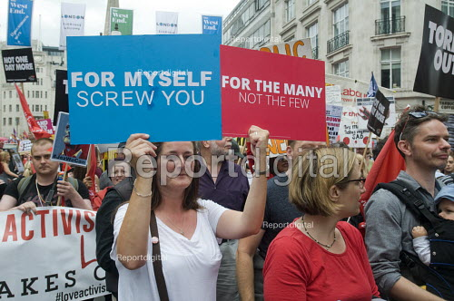 Not One Day More protest demanding the Conservative Party Government go and an end to austerity policies - Stefano Cagnoni - 2017-07-01