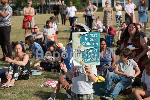 Pupils, parents and teachers, Camden NUT rally to oppose cuts to school funding, Kentish Town, London. - Philip Wolmuth - 2017-07-04