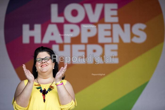 Night Czar Amy Lame, Pride in London, Love Happens Here, Trafalgar Square, London. - Jess Hurd - 2017-07-08