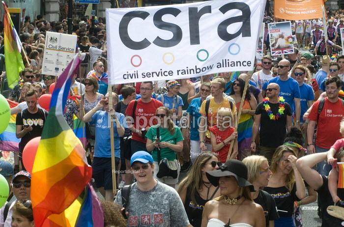 Pride 2017. CSRA Civil servants at Gay Pride celebration and march London - Stefano Cagnoni - 2017-07-08