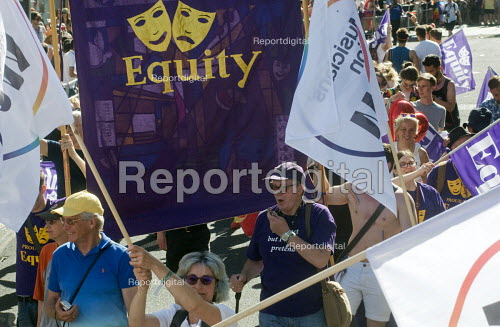 Pride 2017. EQUITY members at Gay Pride celebration and march London - Stefano Cagnoni - 2017-07-08