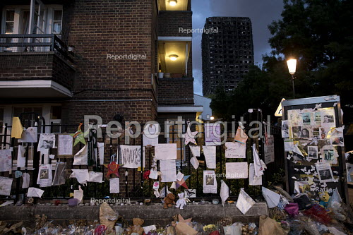 Grenfell Tower fire vigil, one month after the fire, London - Jess Hurd - 2017-07-12
