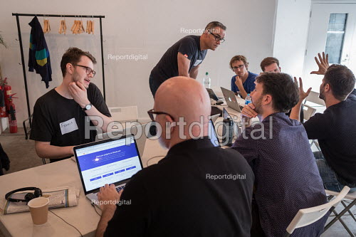 Momentum Hackathon. Collaborative election software development workshop, Shoreditch, London. - Philip Wolmuth - 2017-07-15