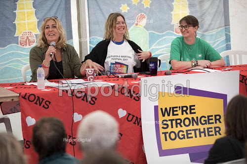 Crisis in Education Fringe, Tolpuddle Martyrs Festival, Dorset - Jess Hurd - 2017-07-16