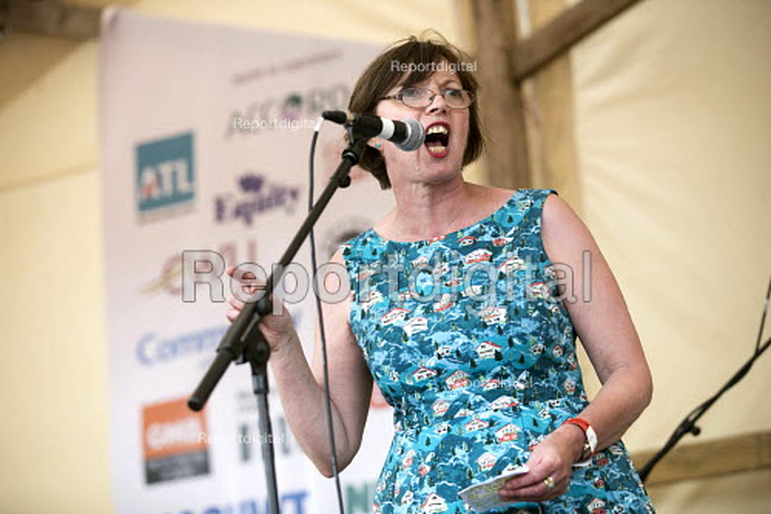 Frances OGrady TUC speaking Tolpuddle Martyrs Festival, Dorset. - Jess Hurd - 2017-07-16