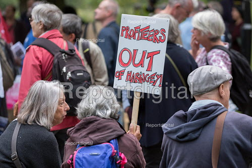 StopHDV protest against proposed privatisation of Haringey council estates, Tottenham, London - Philip Wolmuth - 2017-09-23
