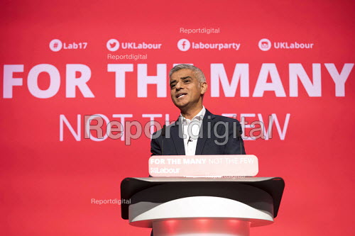 Sadiq Khan speaking, Labour Party Conference, Brighton 2017 - Jess Hurd - 2017-09-25