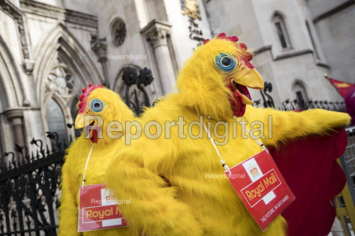 CWU protest against legal challenge by Royal Mail over a strike, Royal Courts of Justice, London - Jess Hurd - 2017-10-12
