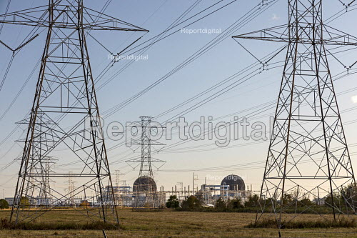 Palacios, Texas USA South Texas Project Electric Generating Station, a nuclear power plant near the Gulf of Mexico. The two units produce 2,700 MW. - Jim West - 2017-11-15