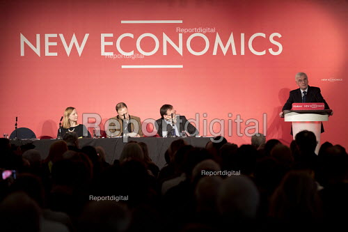 John McDonnell speaking, New Economics, Alternative Models of Ownership Labour Party conference, London. Cat Hobbs, Professor Andrew Cumbers, Gareth Thomas Co-Operative Party - Jess Hurd - 2018-02-10