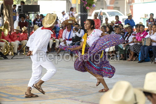 San Juan Teitipac, Oaxaca, Mexico Youth performing at a Zapotec Heritage Fair celebrating the culture of the region - Jim West - 2018-02-22