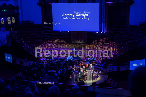 Jeremy Corbyn speaking Rodney Bickerstaffe memorial event for the former Gen Sec of NUPE and Unison. Central Hall Westminster, London - Philip Wolmuth - 2018-04-12