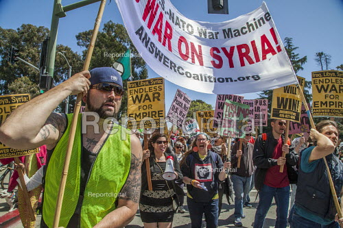 California, USA protest against the attack on Syria - David Bacon - 2018-04-15