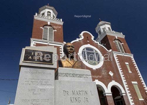 Selma, Alabama, USA: The Brown Chapel AME Church where Martin Luther King Junior led the struggle for voting rights in 1965, the Selma to Montgomery march and passage of the 1965 Voting Rights Act - Jim West - 2018-04-20
