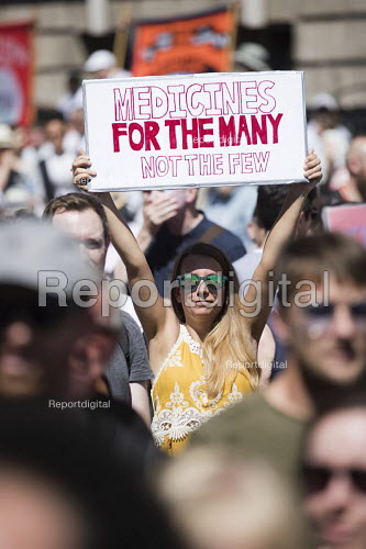 NHS 70th Anniversary protest - free, for all, forever, London - Jess Hurd - 2018-06-30