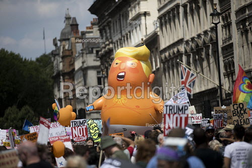 Donald Trump Baby Balloon, Women's March protest against the visit to the UK by US President Donald Trump, London - Jess Hurd - 2018-07-13
