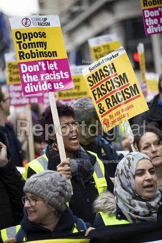 Counter protest against Tommy Robinson UKIP in London, Unite Against Racism and Fascism - Jess Hurd - 2018-12-09