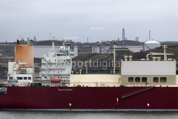LNG tanker Al Mayeda, Milford Haven, Pembrokeshire, Wales. South Hook LNG - John Harris - 2019-03-18