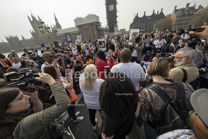 Operation Shutdown, Stop The Violence, end knife crime protest, Westminster Bridge, London - Jess Hurd - 2019-04-17