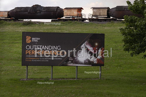 British Steel Scunthorpe. Greybull Capital has put British Steel into receivership. Lincolnshire. Advertisment for Outstanding Performance - John Harris - 2019-05-22