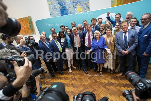 Brexit Party victory press conference, Nigel Farage, Anne Widdecombe and other MEPs, European Elections, London - Jess Hurd - 2019-05-27