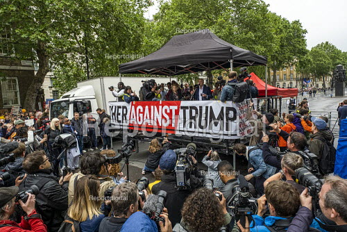 Jeremy Corbyn speaking Together Against Trump, stop the state visit protest against Donald Trump, London - Jess Hurd - 2019-06-04