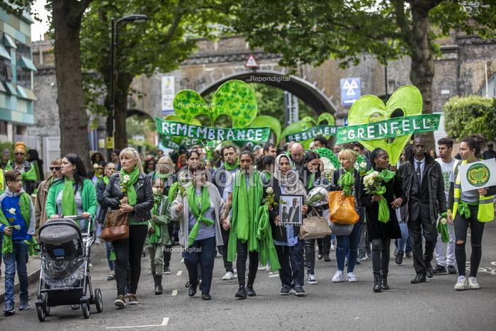 Grenfell fire 2nd anniversary memorial procession from St Helen's Church, Kensington, London - Jess Hurd - 2019-06-14