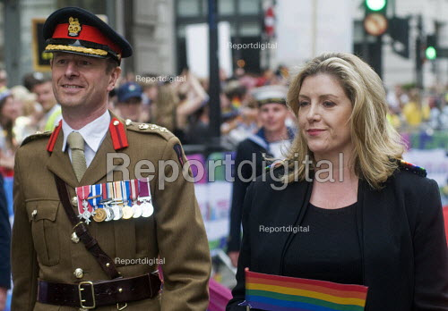 Pride in London 2019. Penny Mordaunt MP and UK Armed Forces on the parade through LondonPride in London 2019. Penny Mordaunt MP and UK Armed Forces on the parade through LondonPride in London 2019. Penny Mordaunt MP and UK Armed Forces on the parade through LondonPride in London 2019. Penny Mordaunt MP and UK Armed Forces on the parade through London - Stefano Cagnoni - 2019-07-06