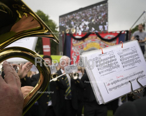 2019 Durham Miners Gala, Brass band playing - Mark Pinder - 2019-07-13