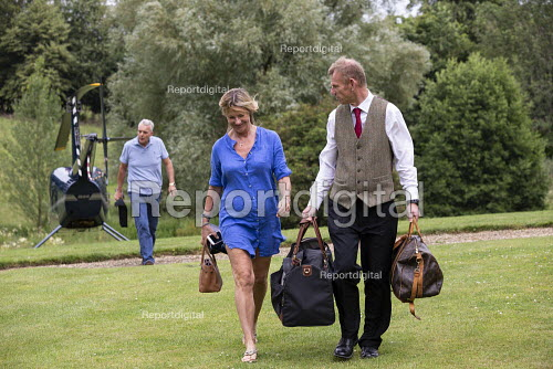 Guests arriving by helicopter, Lords Of The Manor Hotel, Upper Slaughter - John Harris - 2019-07-20